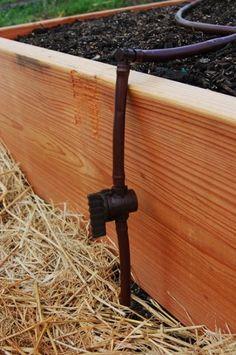 DIY Raised Bed Garden Irrigation For 100 Garden Pinterest