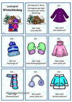 Lesespiel _ Verbkonjugation _ Winterkleidung