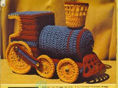 Free Steam Locomotive Amigurumi Pattern in Russian Игрушки вязанные крючком - схема паровоза http://cluclu.ru/blog/igrushki/1803.html