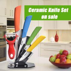 Zirconia Kitchen Knives Set with Peeler