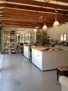 Terry Dresbach studio. Plenty of room for work, display, and storage.