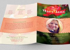 Oceanic Funeral Program Large Publisher Template   Color