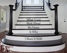 I love my home Stair decals