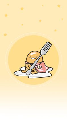 Gudetama shared by Naty on We Heart It Sanrio Wallpaper, K Wallpaper, Cute Wallpaper For Phone, Kawaii Wallpaper, Cute Kawaii Drawings, Kawaii Art, Sanrio Characters, Cute Characters, Cute Kawaii Animals