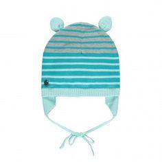 Bonnet en maille avec attache-oreilles