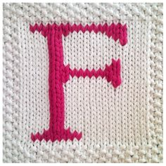 PDF Knitting pattern capital letter F afghan / blanket square - instant download after purchase via Etsy