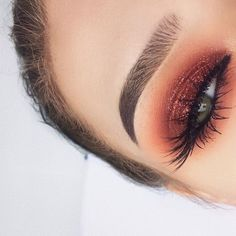 Make-up idea red glitter – About Eye Makeup Eye Makeup Glitter, Eye Makeup Tips, Smokey Eye Makeup, Makeup Goals, Skin Makeup, Makeup Brushes, Copper Eye Makeup, Summer Eye Makeup, Orange Eye Makeup