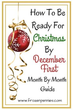 I am going to share with you my fail-proof system to get ready for Christmas and enjoy the holidays! It all starts on September first. #christmas #budget #sinkingfund #frozenpennies