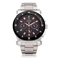 Sale 10% (35.99$) - Weide WH915 3 Dial Week 24h Date Men Stainless Steel Wrist Watch