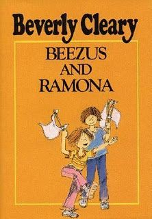 Beezus and Ramona by Beverly Cleary (This is the exact copy that I read, from the Elementary School Library) One of my favorite Ramona books (The 4th of all the Ramona/Henry Huggins books, if you want to read them in order!)