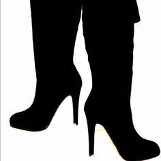 Jessica Simpson Black Suede Audrey Boots Size 6 Brand-new in box!!!! Jessica Simpson Audrey black over the knee suede boots size 6 Jessica Simpson Shoes
