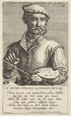 In this blog post, read curator Elizabeth Cleland's take on the life and times of Pieter Coecke van Aelst. | Jan (Johannes) Wierix (Netherlandish, 1549–1615). Portrait of Pieter Coecke van Aelst. The Metropolitan Museum of Art, New York, A. Hyatt Mayor Purchase Fund, Marjorie Phelps Starr Bequest, 1983 (1983.1115.5) #Coecke #tapestrytuesday #granddesign