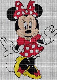 Minnie Mouse cross stitch pattern by Vandihand on Etsy