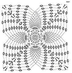 Crochet Mat, Crochet Dollies, Crochet Squares, Thread Crochet, Crochet Flowers, Crochet Motif Patterns, Crochet Vest Pattern, Crochet Diagram, Crochet Designs