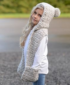 Summit Hooded Scarf Crochet pattern by The Velvet Acorn Crochet Hooded Scarf, Crochet Beanie, Crochet Scarves, Crochet Clothes, Knit Crochet, Hooded Scarf Pattern, Hooded Cowl, Velvet Acorn, Loom Knitting