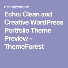 Echo: Clean and Creative WordPress Portfolio Theme Preview - ThemeForest