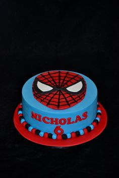 Spiderman Cake And Cupcakes By Sue Ghabach CakesDecorcom