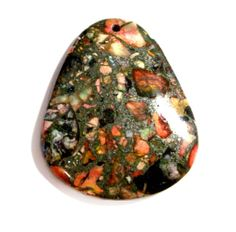♦◊ Gems ◊ Stones ◊♦ Sea Sediment Jasper Large Pendant Bead  Natural by VisionsOfOlde, $7.99