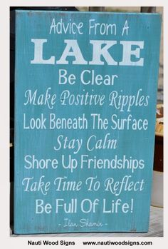 Signs Decor Mesmerizing 1000 Ideas About Lake Decor On Pinterest  Lake Signs Lake Decorating Design