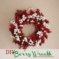 DIY Berry Wreath | Christmas