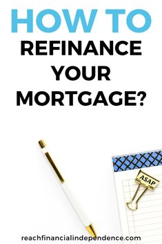 How to refinance your mortgage? Check out out refinance mortgage tips, with rates so low, it is worth trying to refinance your mortgage to pay less interest on it. Mortgage rates are at an historical low, it is time to take advantage of it. Home Selling Tips, Home Buying Tips, Buying A New Home, Money Saving Tips, Mortgage Quotes, Mortgage Tips, Mortgage Calculator, Mortgage Loan Originator, Good Credit Score