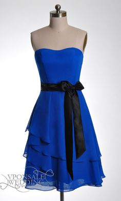 Short Blue Sweetheart Bridesmaid Dress DVW0057 | VPonsale Wedding Custom Dresses