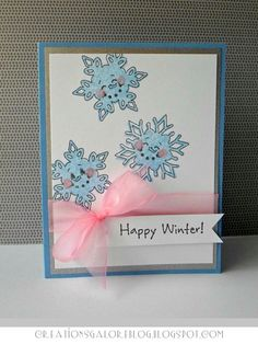 snowflake background (with Peachy Keen Stamps)