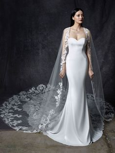 Shop our chic Enzoani Couture Wedding Dress and Bridal Gown Collection at Bridal Reflections. Fancy Wedding Dresses, Making A Wedding Dress, Lace Wedding Dress, Wedding Dress Pictures, Luxury Wedding Dress, Long Sleeve Wedding, Unique Dresses, Sweetheart Mermaid Wedding Dresses, Elegant Wedding