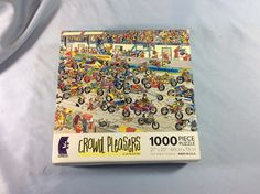 CROWD PLEASERS MOTOR BIKE RIDERS 1000 PC JIGSAW PUZZLE BY JAN VAN HAASTEREN in Toys & Hobbies, Puzzles, Contemporary Puzzles | eBay