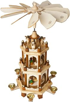 Amazon.com: BRUBAKER Wooden Christmas Pyramid - 18 Inches - 3 Tier Carousel - Nativity Play: Kitchen & Dining Merry Christmas, Christmas Sweets, Christmas Nativity, Christmas Home, Christmas Crafts, Christmas Ornaments, Christmas Ideas, Norwegian Christmas, Christmas Train