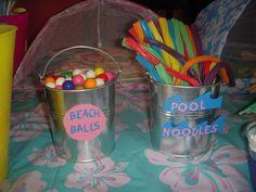 Treats at a Beach swim party #beach #swimpartytreats