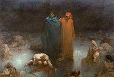 Gustave Doré, Dante et Virgile dans le 9e cercle de l'Enfer