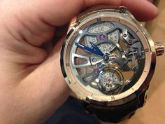 Caught on video, the Ulysse Nardin Skeleton Tourbillon Manufacture.  Do you like it as much as we do?  http://wygo.co/11WTrCC