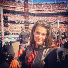 My First Wrestlemania - Rachel David Santa Clara California, Bad News, My Man, Wwe, Entertaining, Happy, People, Happiness, People Illustration