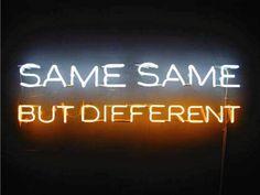 Same Same But Different | via tumblr