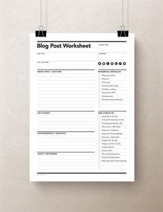 Blog Planner Printable, Planner Template, Calendar Printable, Pdf Icon, Blog Organisation, Planner Organization, Microsoft Word, Planner Stickers, Social Networks