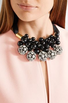 Marni | Gold-plated, crystal and resin necklace | NET-A-PORTER.COM