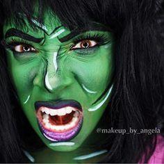 she hulk makeup - Google Search Halloween Makeup, Halloween Party, Halloween Decorations, Halloween Costumes, Halloween Witches, She Hulk Costume, She Hulk Cosplay, She Hulk Transformation, Superhero Makeup