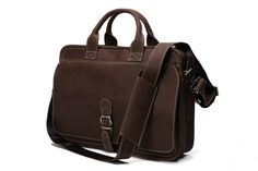 Amazon.com: ROCKCOW Handcrafted Top Grain Leather Mens Briefcase Messenger Bag Laptop Bag: Computers & Accessories