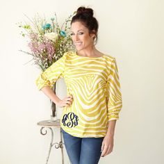 Hey Mama, yellow and monogram is exactly what I want! Shop NOW
