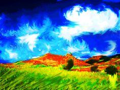 digital Van Gogh landscapes paesaggio verde13 van gogh