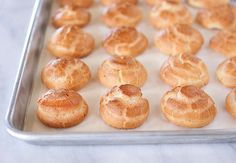 Recipes: Pastry cream; Pate `a  Choux (includes step by step photos; suitable for food processor)