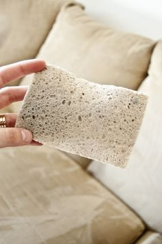 How to clean a microfiber couch - AMAZING results!!