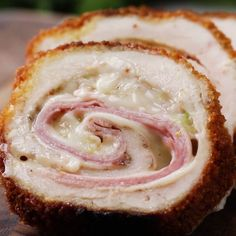 Crispy, Creamy Chicken Cordon Bleu with garlic Parmesan sauce