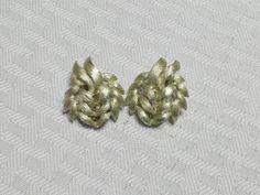 1950s Vintage Leaf Cluster Gold Tone Clip On by MyVintageHatShop