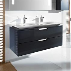Roca - Kalahari-N 2 Drawer Vanity Unit with 1200mm Double Basin - 3 x Colour Options