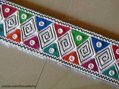 Simple Rangoli Border Designs, Rangoli Designs Latest, Latest Rangoli, Boarder Designs, Rangoli Borders, Rangoli Designs Flower, Rangoli Patterns, Small Rangoli Design, Rangoli Ideas