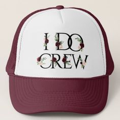 I Do Crew | Bridal Bachelorette Party Boho Chic Trucker Hat - rustic gifts ideas customize personalize