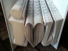 I love you, recycled books, folded book, wedding, girlfriend, boyfriend, birthday, graduation, gift, present, unique, anniversary