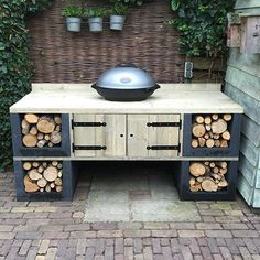 Bbq Kitchen, I Grill, Outdoor Living, Outdoor Decor, Outdoor Cooking, Backyard Landscaping, Barbecue, Outdoor Gardens, Home Improvement